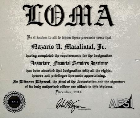 Loma Courses Completed